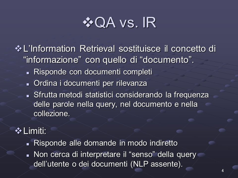 5 QA vs.IE QA vs.