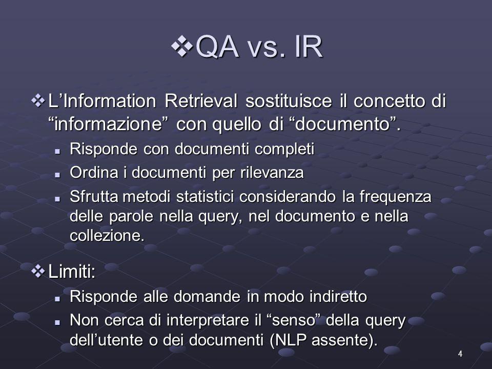 4 QA vs.IR QA vs.