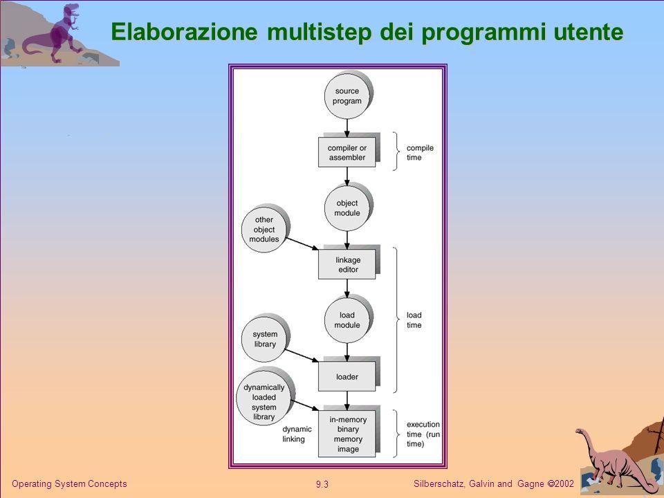 Silberschatz, Galvin and Gagne 2002 9.3 Operating System Concepts Elaborazione multistep dei programmi utente