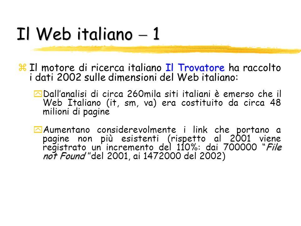 Il World Wide Web zGrazie al Web stiamo assistendo ad una rivoluzione nellaccesso alle fonti di informazione zCercare nel Web è come accedere ad unenc