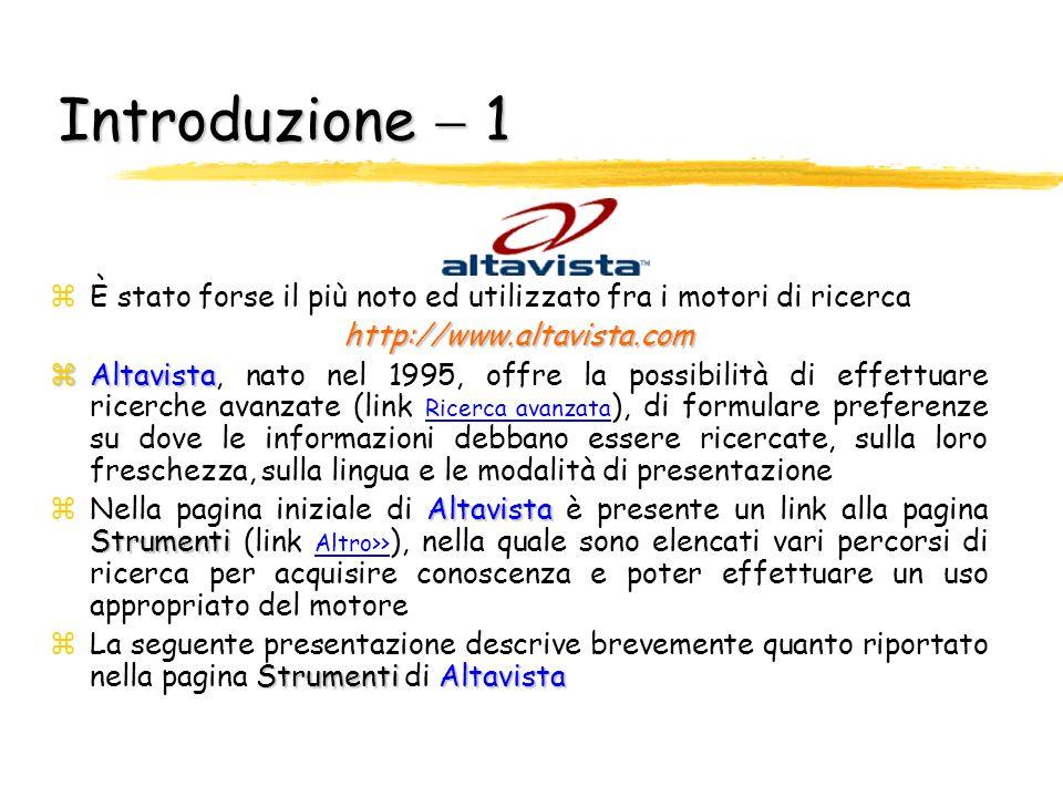 Guida pratica allutilizzo di Altavista