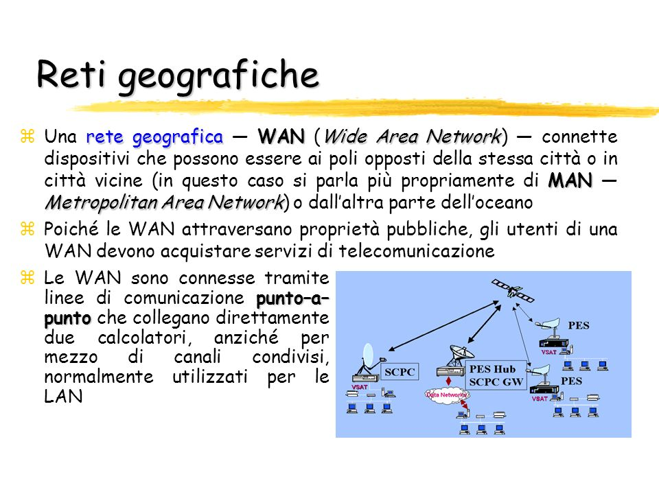 Reti locali rete localeLAN Local Area Network zUna rete locale LAN (Local Area Network) connette dispositivi hardware che si trovano fisicamente vicin