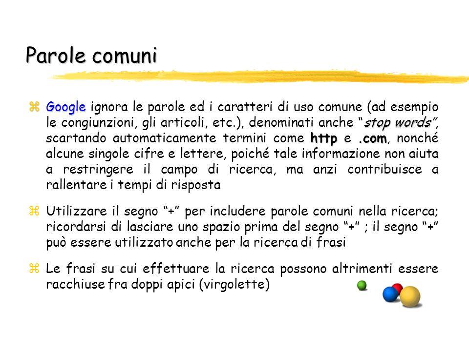 Ricerche con and automatico e visualizzazione del contesto di ricerca zGoogle zGoogle visualizza solo le pagine che contengono tutti i termini ricerca