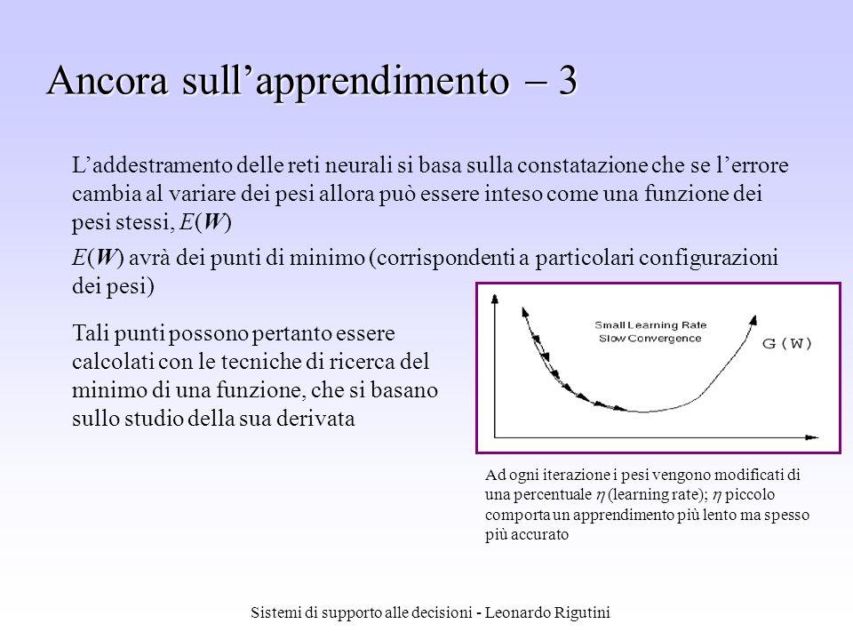 Sistemi di supporto alle decisioni - Leonardo Rigutini Tali punti possono pertanto essere calcolati con le tecniche di ricerca del minimo di una funzi