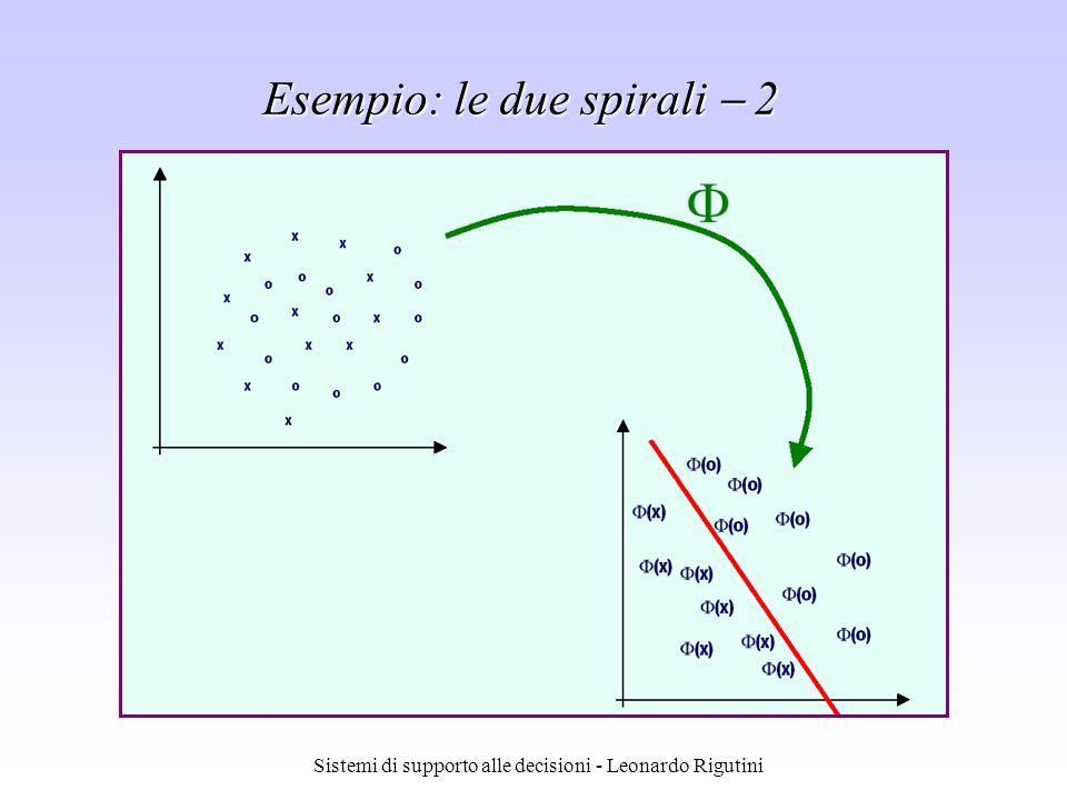 Sistemi di supporto alle decisioni - Leonardo Rigutini Esempio: le due spirali 2