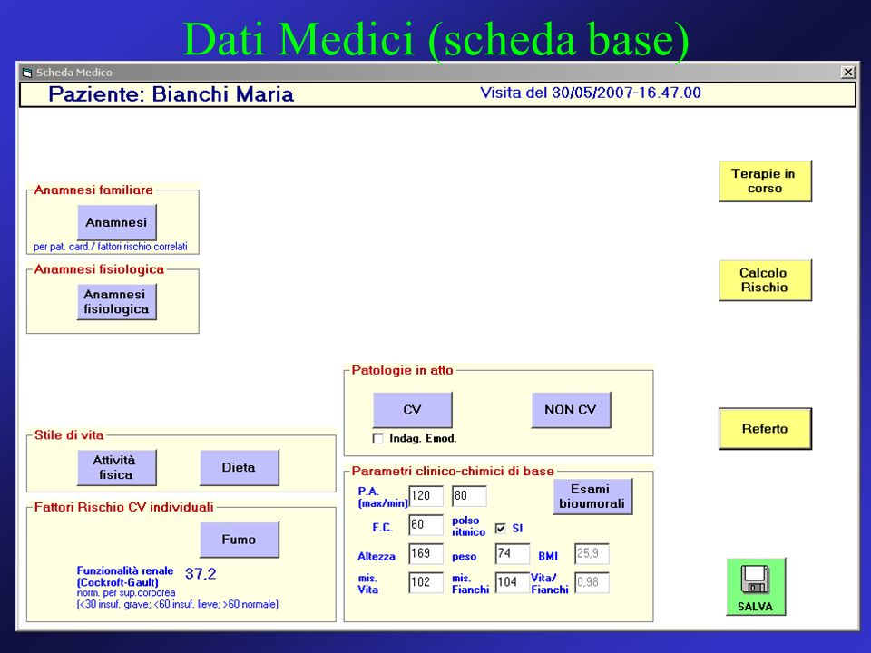 Dati Medici (scheda base)