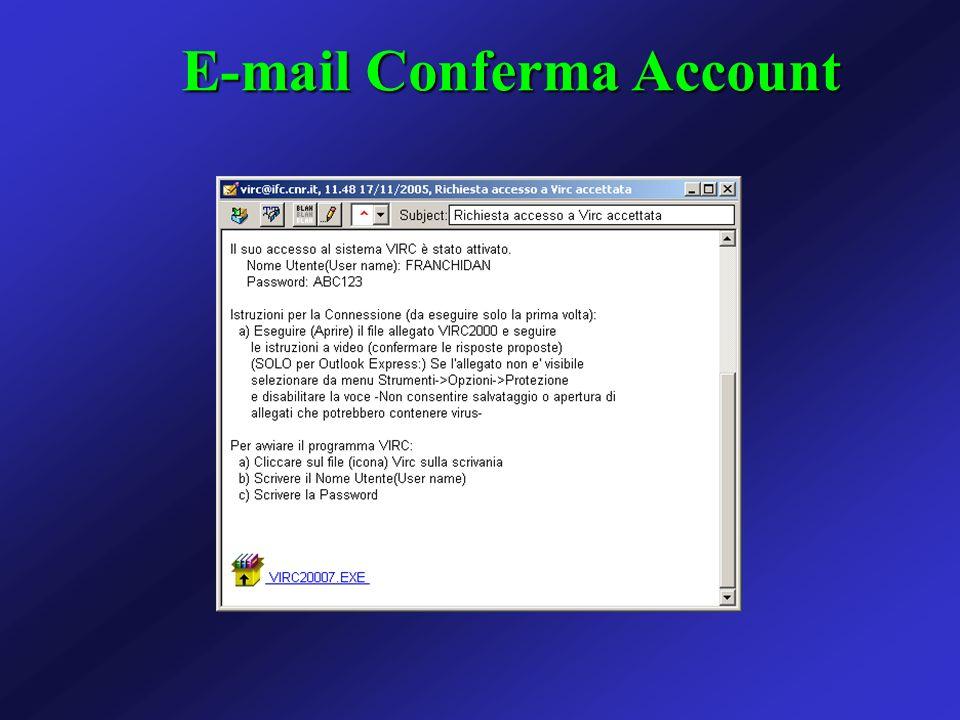 E-mail Conferma Account