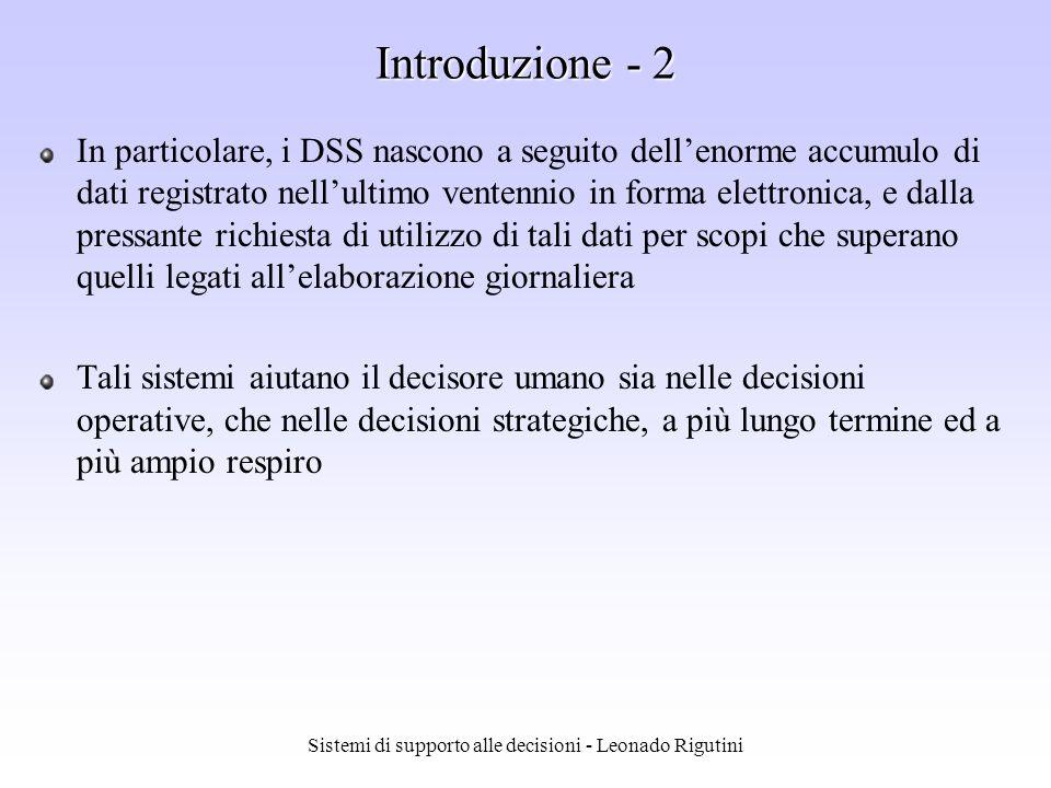 Sistemi di supporto alle decisioni - Leonado Rigutini Data mining - Esempio x x x x x x x x x x x x x x oo o o o o o o o o o o o o o o x Stipendio Prestiti IF stipendio < k THEN mancati pagamenti k