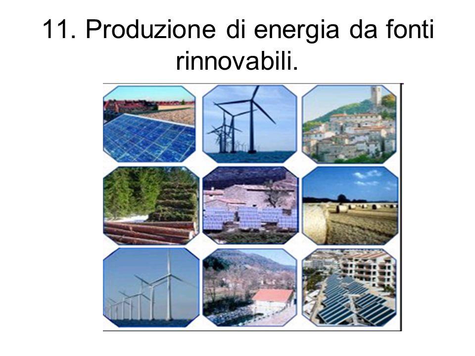 11. Produzione di energia da fonti rinnovabili.