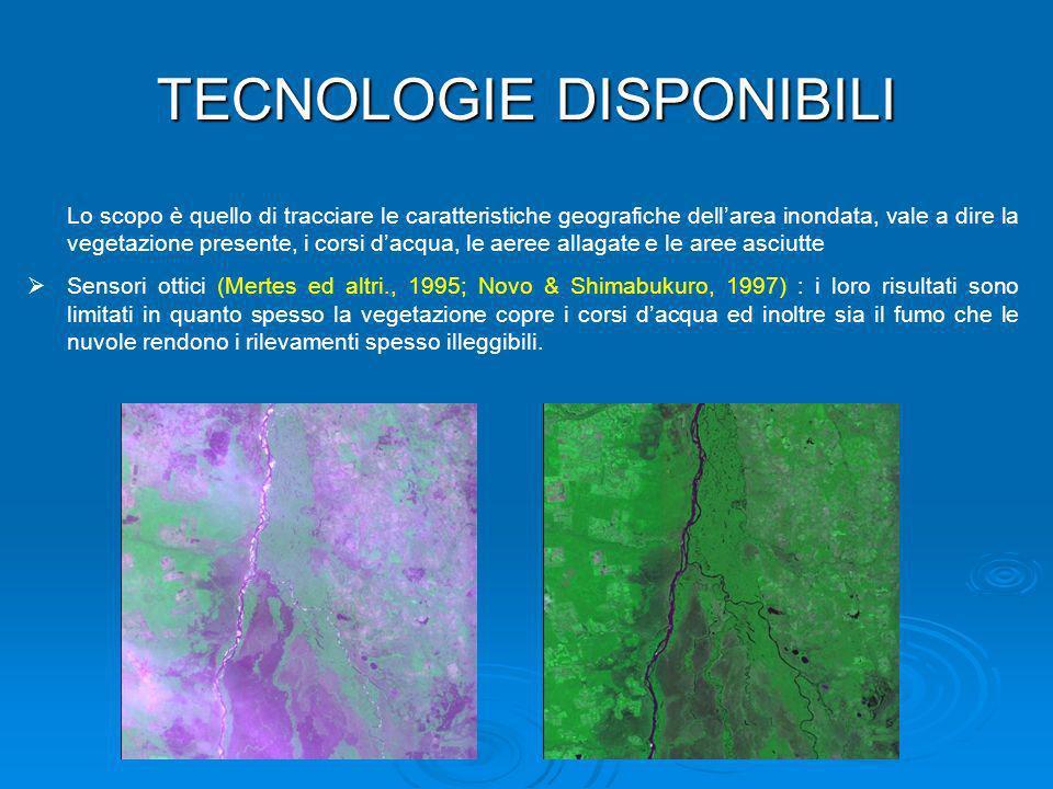 Lo scopo è quello di tracciare le caratteristiche geografiche dellarea inondata, vale a dire la vegetazione presente, i corsi dacqua, le aeree allagat