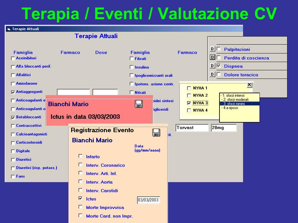 Terapia / Eventi / Valutazione CV
