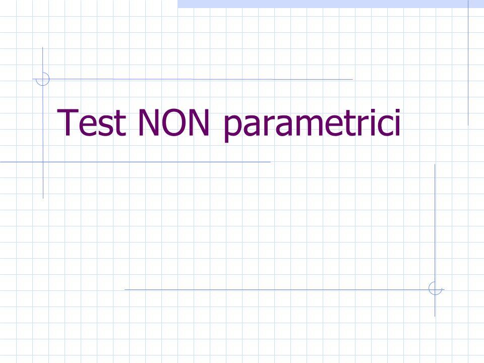 Test NON parametrici