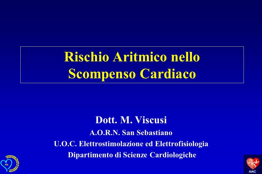 Rischio Aritmico nello Scompenso Cardiaco Dott. M. Viscusi A.O.R.N. San Sebastiano U.O.C. Elettrostimolazione ed Elettrofisiologia Dipartimento di Sci