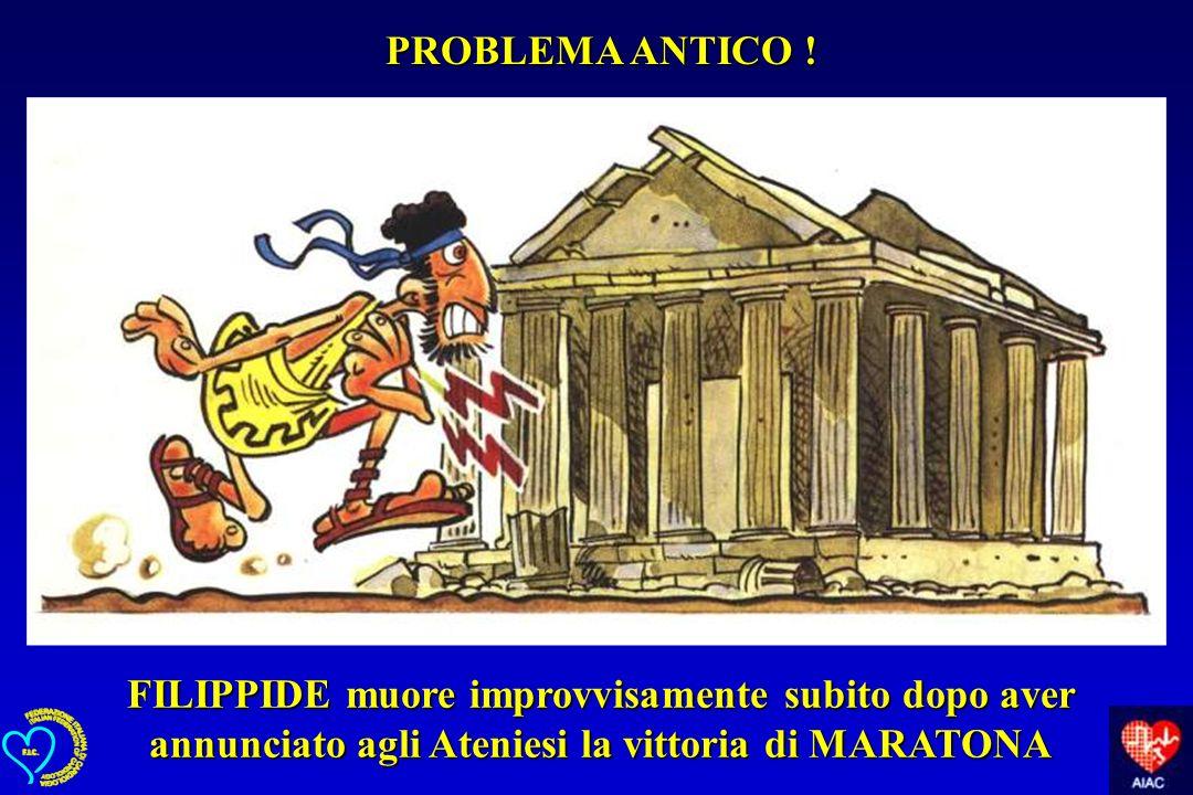 FILIPPIDE muore improvvisamente subito dopo aver annunciato agli Ateniesi la vittoria di MARATONA PROBLEMA ANTICO !