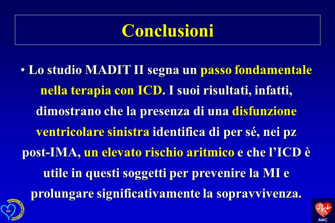 Lo studio MADIT II segna un passo fondamentale nella terapia con ICD. I suoi risultati, infatti, dimostrano che la presenza di una disfunzione ventric