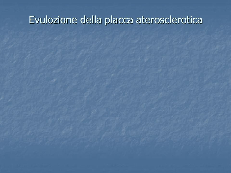 Aterosclerosi e fasi epidemiologiche