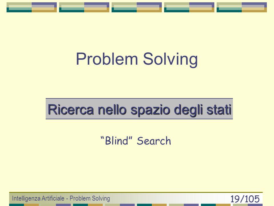 Intelligenza Artificiale - Problem Solving 18/105 Teoria dei Giochi Von Neumann & Morgenstern (1944) Teoria della DecisioneTeoria dei Giochi Analizzar