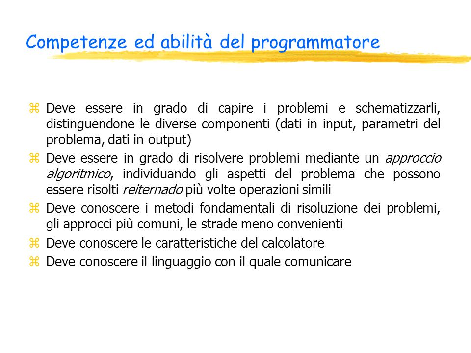 Esempio di Boolean Sub Macro1() Dim prima As Boolean prima=True if prima Then Range(a1).Select ActiveCell.Value=La variabile è vera End If End Sub