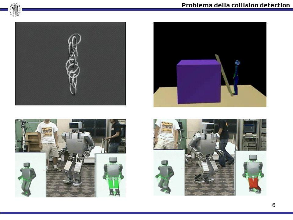 7 Collisione Utente 1KHz 25fps Force rendering SI NO 1.Lambiente virtuale è costituito da diversi oggetti.