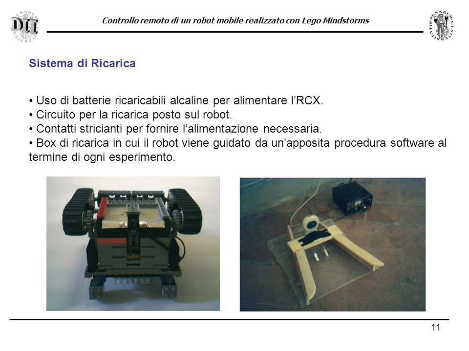 11 Sistema di Ricarica Uso di batterie ricaricabili alcaline per alimentare lRCX.