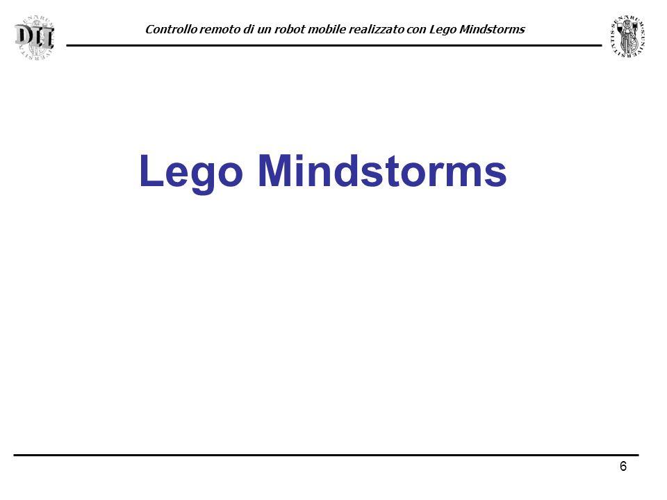6 Lego Mindstorms Controllo remoto di un robot mobile realizzato con Lego Mindstorms