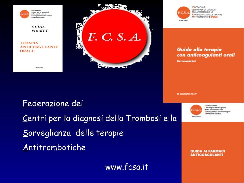 Federazione dei Centri per la diagnosi della Trombosi e la Sorveglianza delle terapie Antitrombotiche www.fcsa.it
