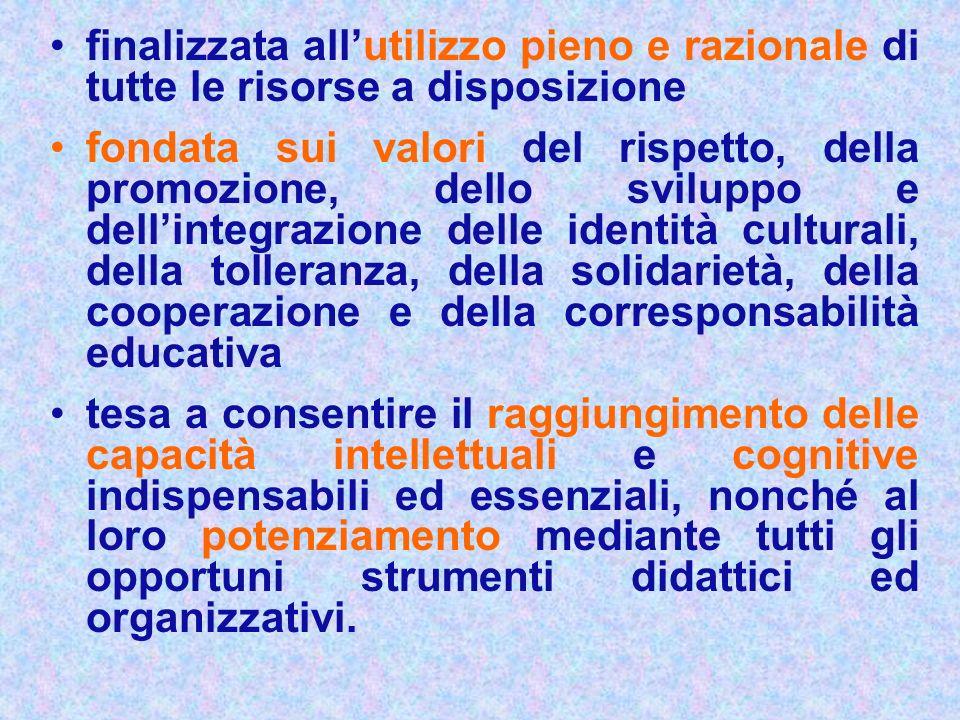 finalizzata allutilizzo pieno e razionale di tutte le risorse a disposizione fondata sui valori del rispetto, della promozione, dello sviluppo e delli