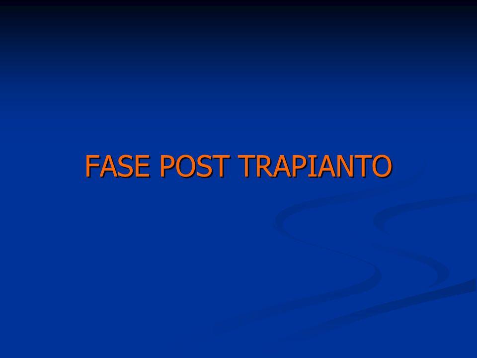FASE POST TRAPIANTO