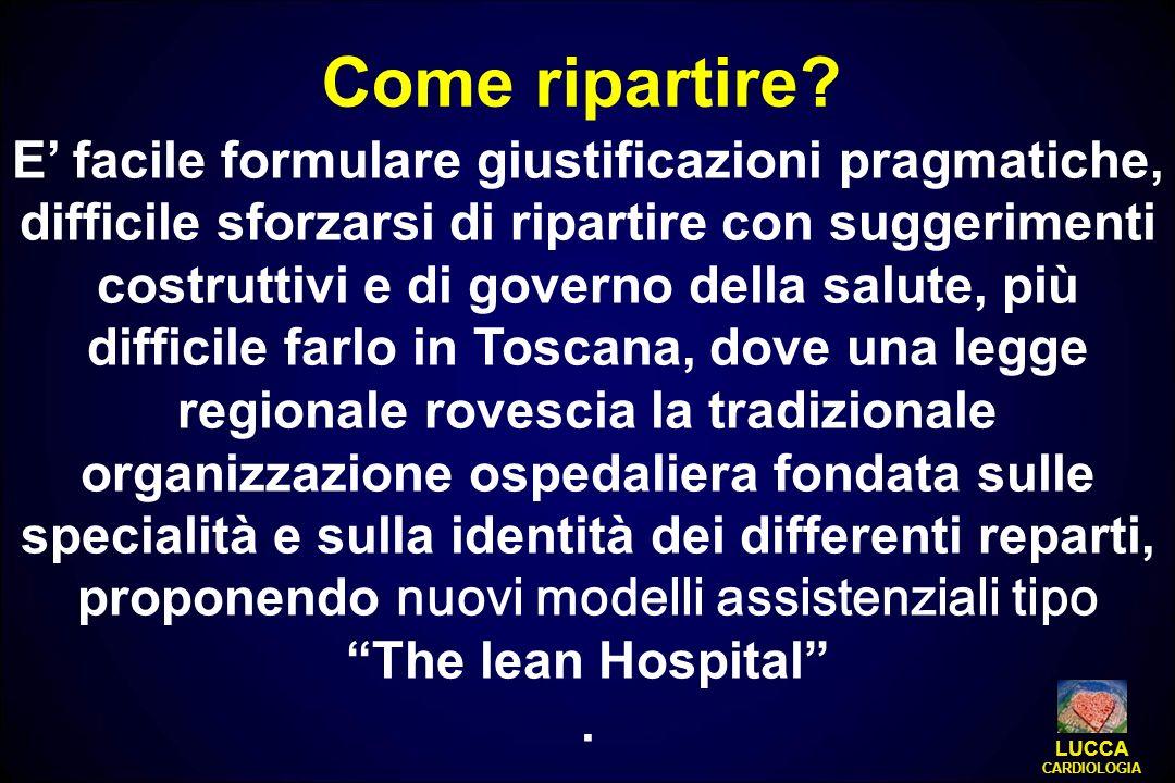 E facile formulare giustificazioni pragmatiche, difficile sforzarsi di ripartire con suggerimenti costruttivi e di governo della salute, più difficile