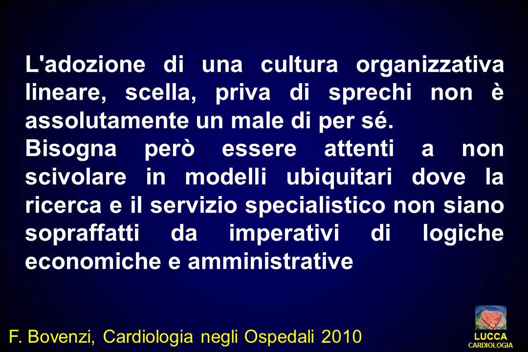 L'adozione di una cultura organizzativa lineare, scella, priva di sprechi non è assolutamente un male di per sé. Bisogna però essere attenti a non sci