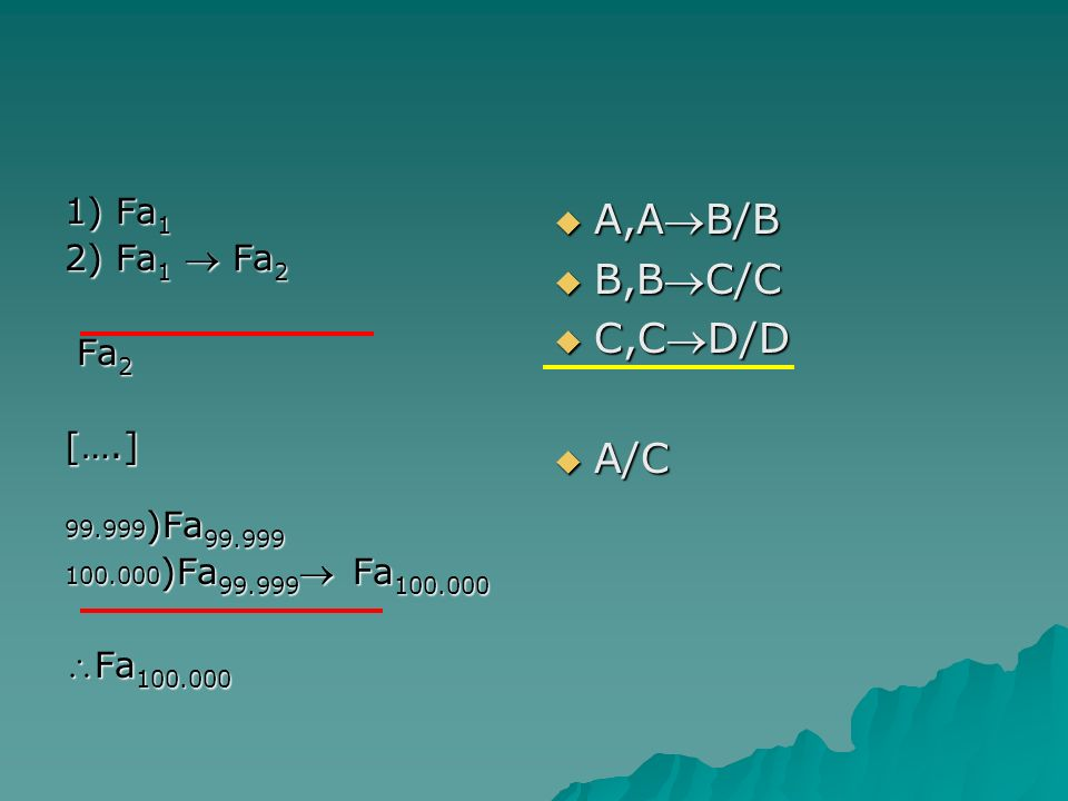 1) Fa 1 2) Fa 1 Fa 2 Fa 2 Fa 2[….] 99.999 )Fa 99.999 100.000 )Fa 99.999 Fa 100.000 Fa 100.000Fa 100.000 A,AB/B A,AB/B B,BC/C B,BC/C C,CD/D C,CD/D A/C