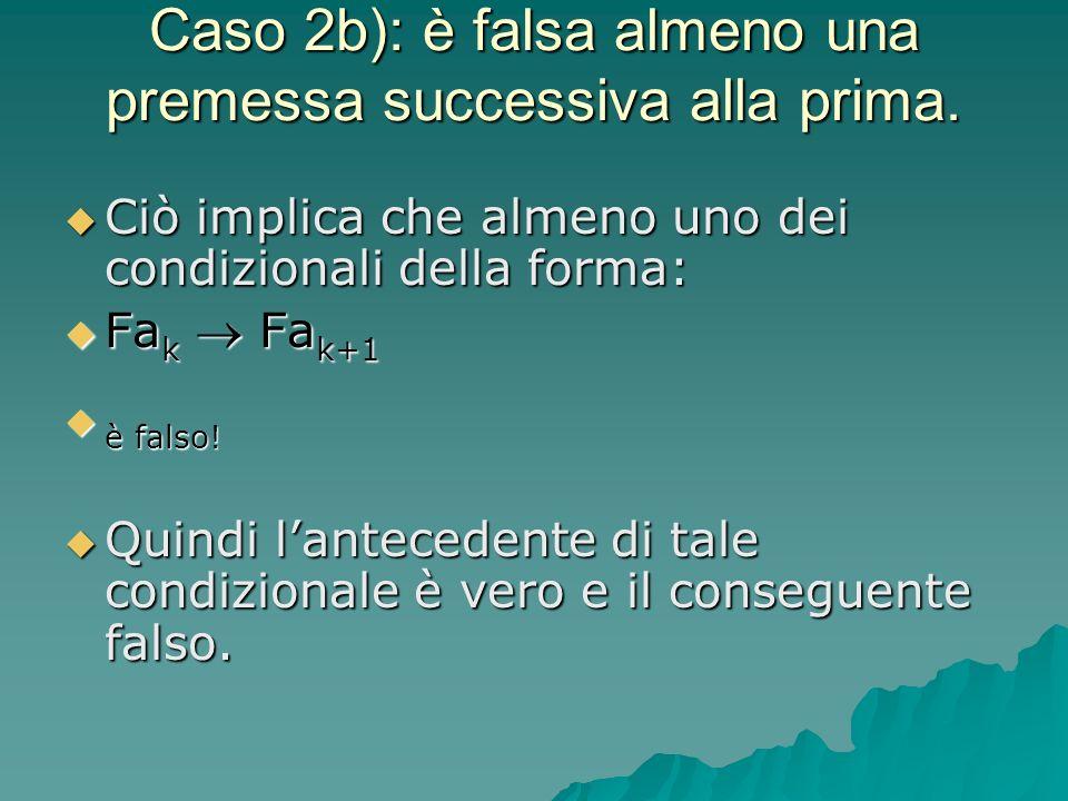 Caso 2b): è falsa almeno una premessa successiva alla prima. Ciò implica che almeno uno dei condizionali della forma: Ciò implica che almeno uno dei c