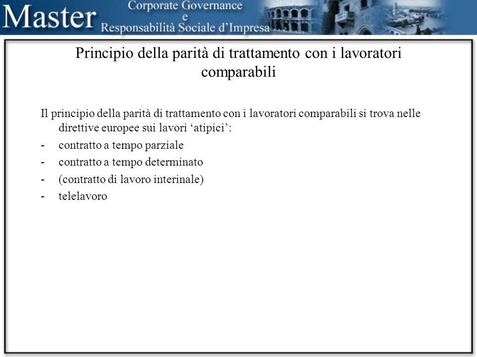 Cronologia Italia sindacale 1970 genere1977 (– 1991 – 2000) razza1998 EuropaItalia genere19761977 razza43/2000215/2003 altre78/2000216/2003 genere73/2002decreto/2005 servizi113/2004