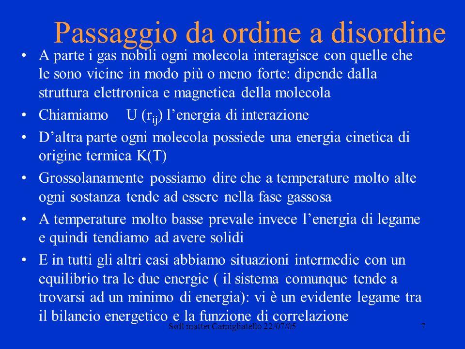 Soft matter Camigliatello 22/07/0528 Tradizione ed innovazione