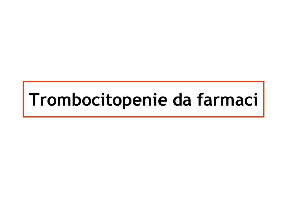 Sospensione del farmaco (o dei farmaci) Trasfusione di CP nei casi con: emorragia life-threatening e/o con grave sintomatologia e/o con conta piastrinica < 20.000/μL Corticosteroidi (?) IvIg (?) Plasma-exchange (?) Evitare successive esposizioni a farmaco Terapia SIMT-AO San Carlo Aster RH & Bougie DW, New Engl J Med 2007;357:580-587 Aster RH, Curtis BR et al., J Thromb Haemost 2009;7:911-918