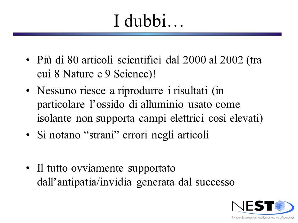 I dubbi… Più di 80 articoli scientifici dal 2000 al 2002 (tra cui 8 Nature e 9 Science).