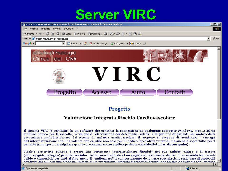 Lo strumento clinicoMedico VIRCSpecialista Dati Paziente Medico di base e Specialista utilizzano lo stesso programma e gli stessi formati dati. Ciascu