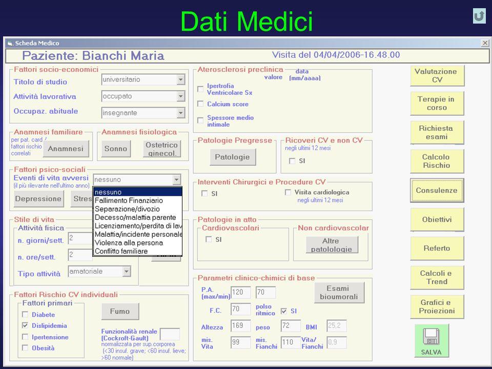 D. Franchi, G. Iervasi, R. Cristofani, A. Benassi - Istituto di Fisiologia Clinica CNR PISA 21 Dati Medici