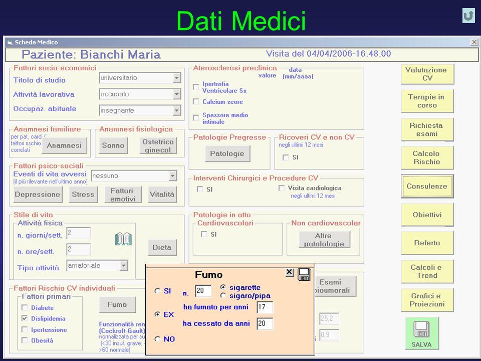 D. Franchi, G. Iervasi, R. Cristofani, A. Benassi - Istituto di Fisiologia Clinica CNR PISA 26 Dati Medici