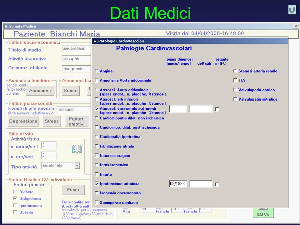 D. Franchi, G. Iervasi, R. Cristofani, A. Benassi - Istituto di Fisiologia Clinica CNR PISA 28 Dati Medici