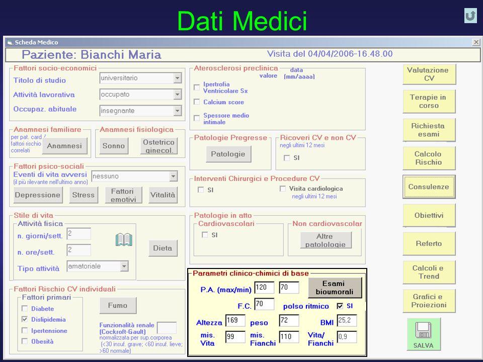 D. Franchi, G. Iervasi, R. Cristofani, A. Benassi - Istituto di Fisiologia Clinica CNR PISA 30 Dati Medici