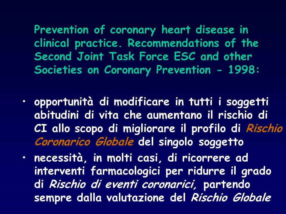 Morbilità e Mortalità 2 Shaw and Nationale ExHD Project (Am J Cardiol 1981;48:39) - 651 pz con IMA - Intervento : solo Training Fisico - Mortalità CV : 4.6 vs 7.3 % p ns