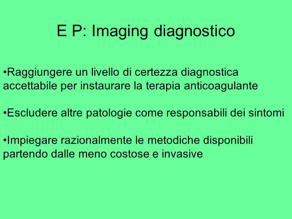 Scintigrafia polmonare V/Q Mis Match V/Q = EP