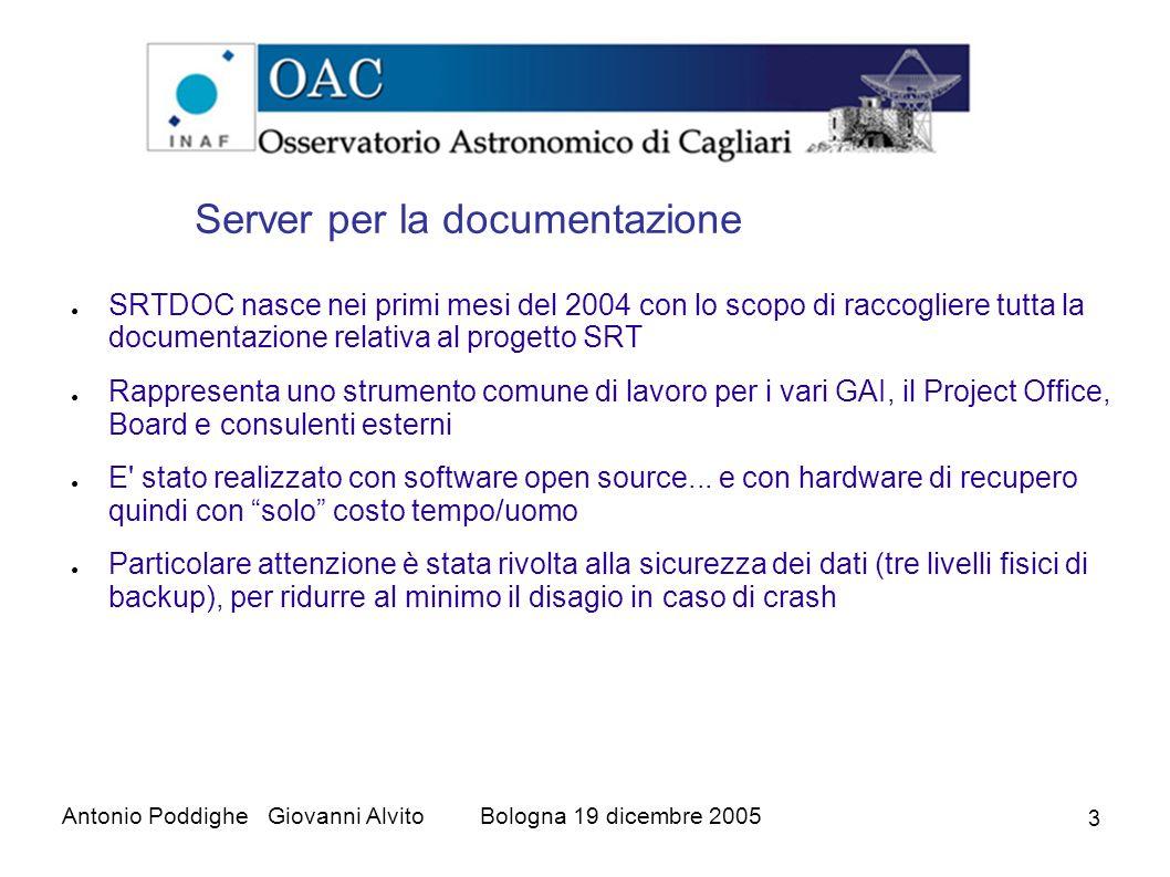 3 SRTDOC nasce nei primi mesi del 2004 con lo scopo di raccogliere tutta la documentazione relativa al progetto SRT Rappresenta uno strumento comune di lavoro per i vari GAI, il Project Office, Board e consulenti esterni E stato realizzato con software open source...