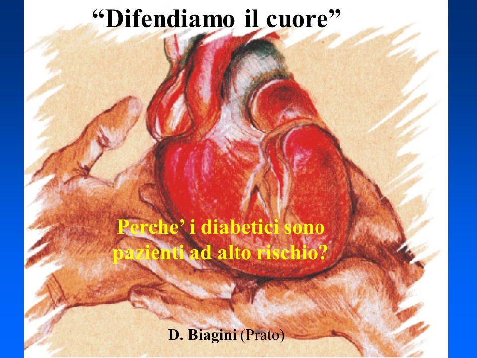Perche i diabetici sono pazienti ad alto rischio? D. Biagini (Prato) Difendiamo il cuore