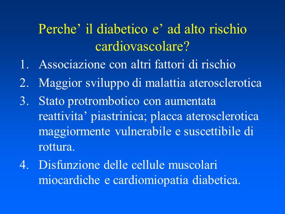 Perche il diabetico e ad alto rischio cardiovascolare.