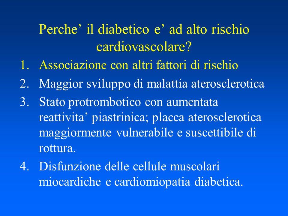 Dislipidemia diabetica Linsulino resistenza causa un ridotto assorbimento ed un ridotto utlizzo di acidi grassi a livello muscolare Il tessuto adiposo viscerale riduce la lipolisi e libera un maggior quantitavo di acidi grassi.