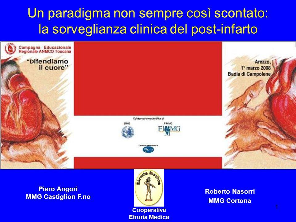 1 Un paradigma non sempre così scontato: la sorveglianza clinica del post-infarto Cooperativa Etruria Medica Piero Angori MMG Castiglion F.no Roberto