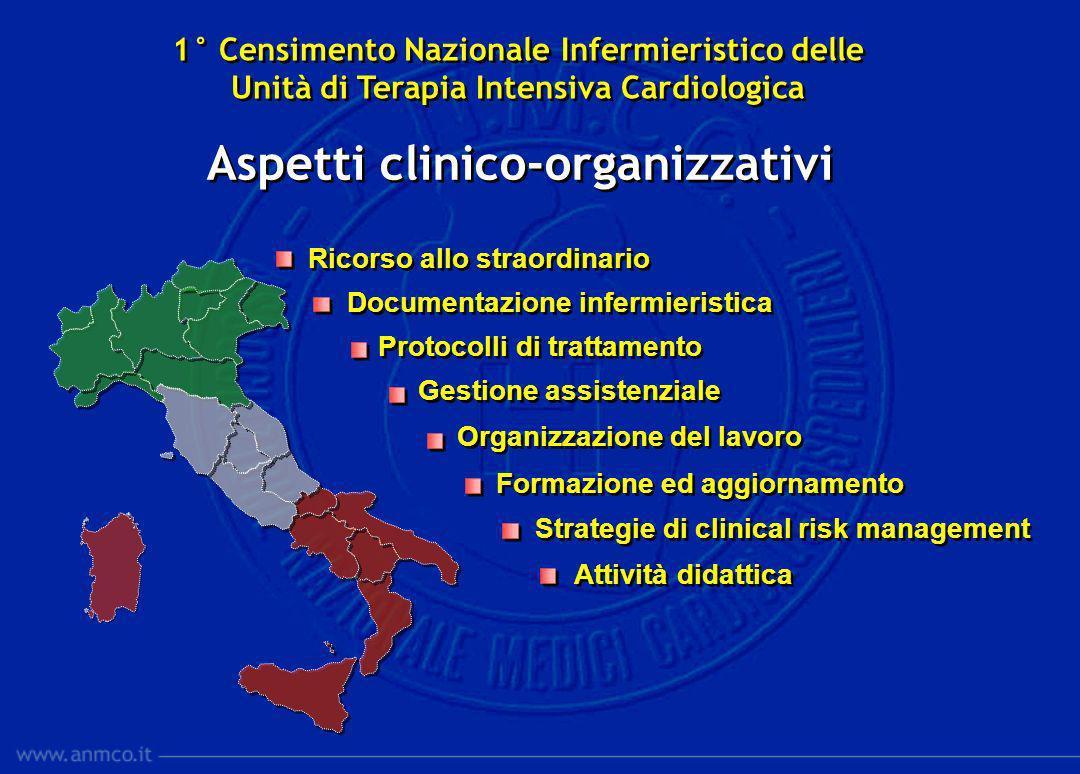 Ricorso allo straordinario Documentazione infermieristica Protocolli di trattamento Gestione assistenziale Organizzazione del lavoro Formazione ed agg