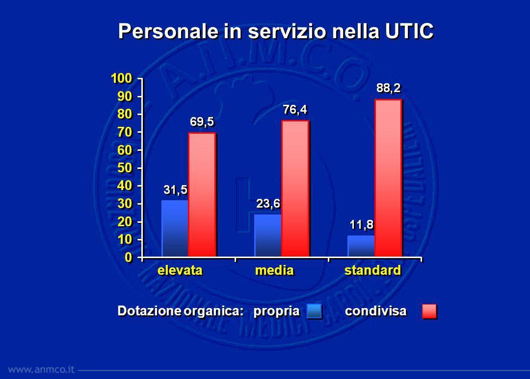 Personale in servizio nella UTIC elevata standard media Dotazione organica: propria condivisa